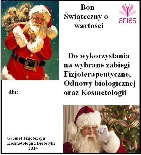 Bon świąteczny